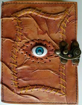 Sacred Eye leather blank book w/ latch