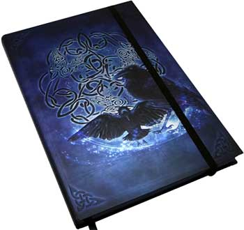 "5 1//2"" x 8"" Celtic Raven journal"