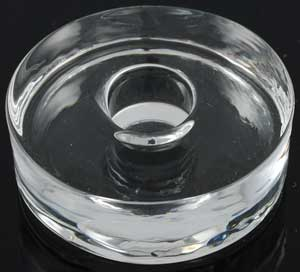 Glass Round Chime Candle Holder