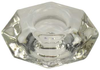 clear glass Reversable candle holder