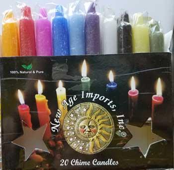 "9/16"" Mixed chime candle 20pk"