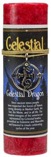 Celestial Dragon pillar candle with Ritual Necklace