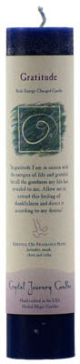 Gratitude Reiki Charged pillar candle