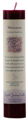 Motivation Reiki Charged pillar candle