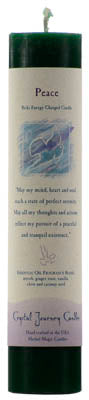 Peace Reiki Charged pillar candle