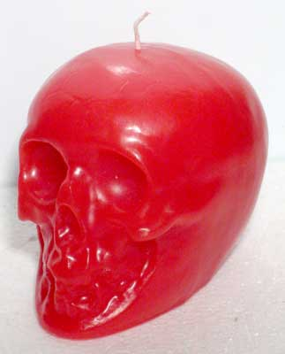 Red Skull Candle 3 1/2""