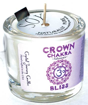 Crown chakra soy votive candle