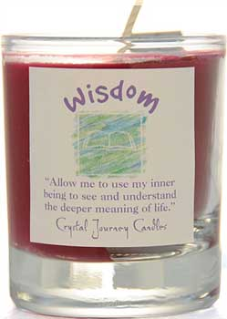 Wisdom soy votive candle