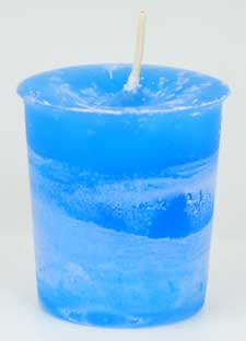 Ascended Masters & Guides Herbal votive - light blue