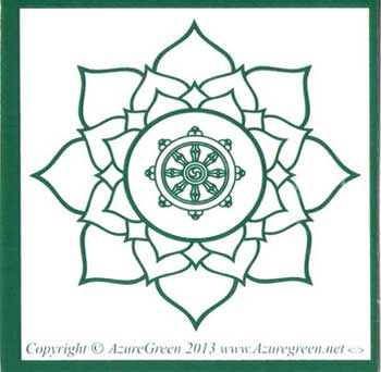 Buddha Wheel bumper sticker