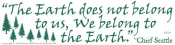 The Earth Does Not Belong To Us...