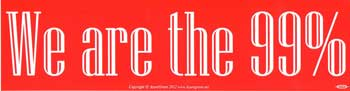 "We Are the 99% bumper sticker - 11 1/2 "" by 3"""