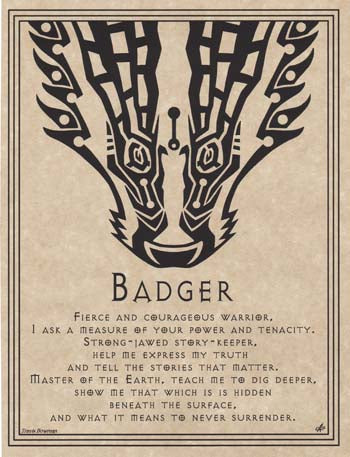 Badger Prayer poster