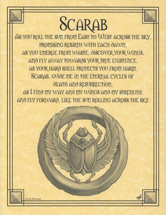 Scarab Prayer poster