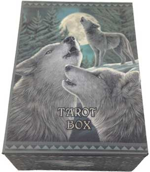 "4"" x 5 1/2"" Wolf Song tarot box"