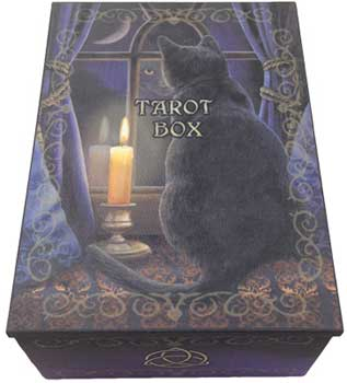 "4"" x 5 1/2"" Black Cat tarot box"