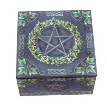 "4"" x 4"" Pentagram Mirror box"