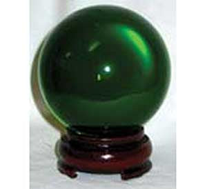 50mm Green crystal ball