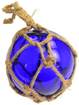 Cobalt Blue Glass Float 5""