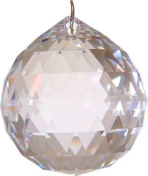 40 mm Clear faceted crystal ball