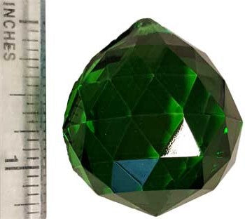 30 mm Green faceted crystal ball