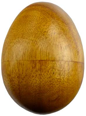 Wooden Egg Shaker instrument