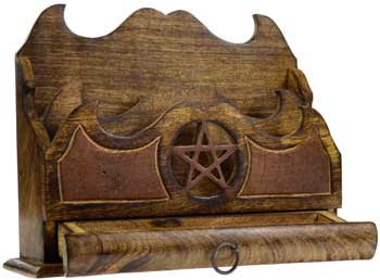 Pentagram letter holder