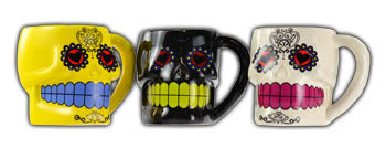 Set of 3 Day Dead Mugs