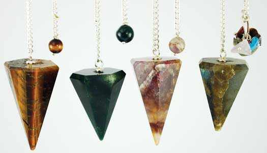 Assorted Faceted 6 side pendulum