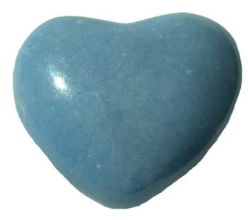 "1 3/4"" Angelite heart"