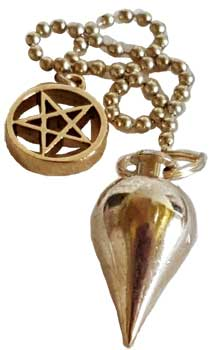 Brass pendulum with Pentagram