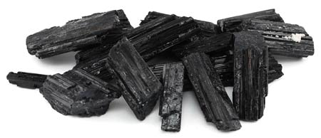 1 lb Black Tourmaline untumbled stones