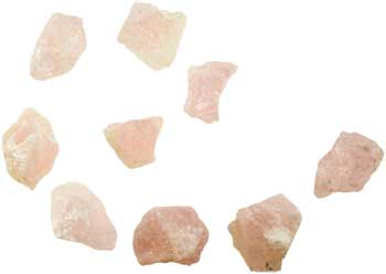 1 lb Rose Quartz untumbled stones