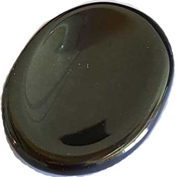 Black Agate worry stone