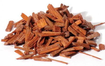 Sandalwood chips red 1oz (Pterocarpus santalinus)