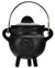 Pentagram Cast Iron Cauldron w/ Lid 2 3/4""