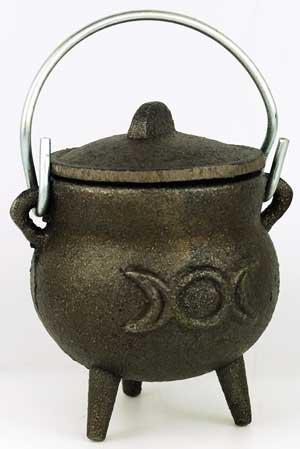 Triple Moon cast iron cauldron 3""