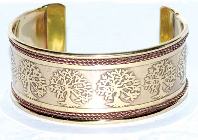 Tree of Life Copper and Brass bracelet