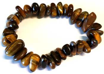 Tiger Eye gemstone bracelet stretch