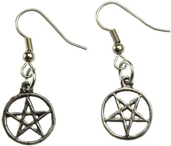Wire-hooked Inverted Pentagram earrings