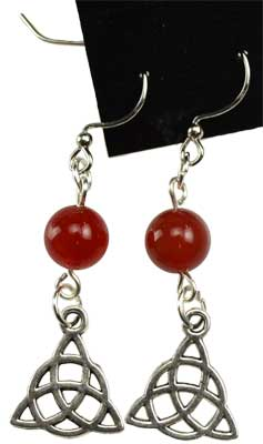 Carnelian Triquetra earrings