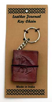 Dragon leather journal key chain