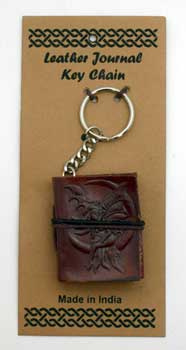 Fairy leather journal key chain