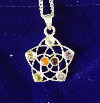 "1 1/4"" Seed of Life Chakra with pouch"