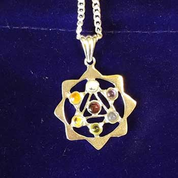 "1 1/8"" Yantra Chakra with pouch"