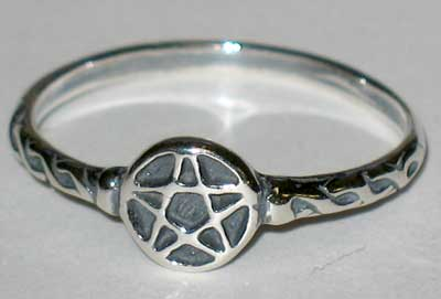 Pentagram ring size 4 sterling