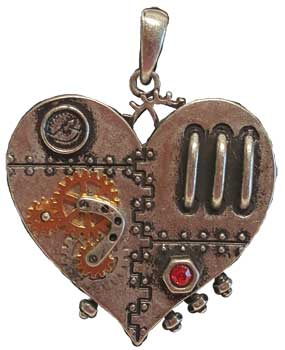 Clockwork Heart necklace