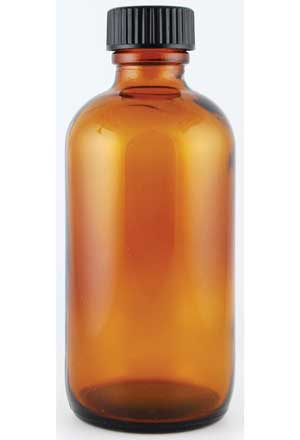 Amber Bottle with Cap 4oz