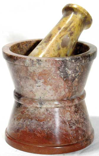 Traditional Soapstone mortar & pestle set