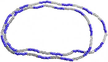 Yemaya beads blue & clear